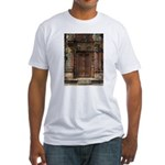 Banteay Srei False Door 1 Fitted T-Shirt