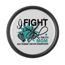 Fight Like a Girl For My Ovarian Cancer Large Wall