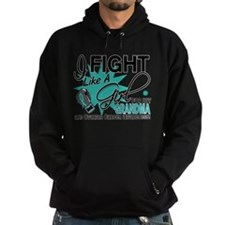 Fight Like a Girl For My Ovarian Cancer Hoodie