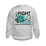 Fight Like a Girl For My Ovarian Cancer Sweatshirt