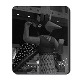 BW Bird Woman Mousepad