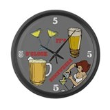 Large 5'oclock Somewhere Bar Clock