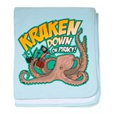 Kraken Down On Piracy baby blanket