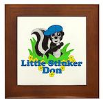 Little Stinker Don Framed Tile