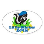 Little Stinker Eddie Sticker (Oval)