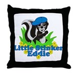 Little Stinker Eddie Throw Pillow