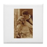 Vintage Wedding Tile Coaster
