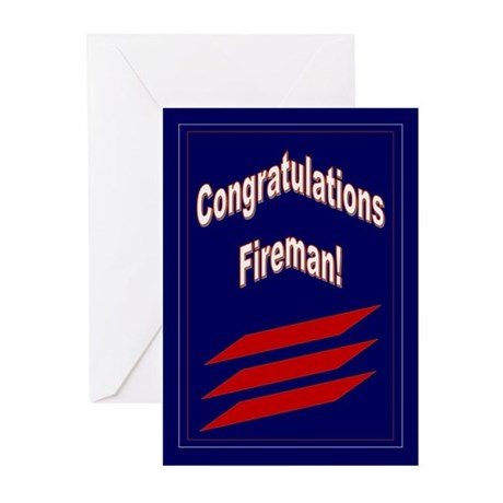 Congrats Fireman Promotion Greeting Cards (Pk of 1