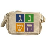 Colorful Dreidel Messenger Bag