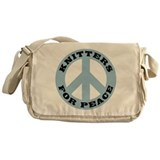 Knitters For Peace Messenger Bag
