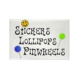 Stickers Lollipops Pinwheels Rectangle Magnet (10
