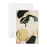 Utamaro block print Greeting Cards (Pk of 20)