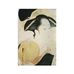 Utamaro block print Rectangle Magnet (100 pack)