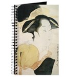 Utamaro block print Journal