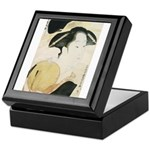 Utamaro block print Keepsake Box