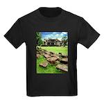 Angkor Wat Ruined Causeway Kids Dark T-Shirt