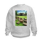 Angkor Wat Ruined Causeway Kids Sweatshirt