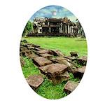 Angkor Wat Ruined Causeway Ornament (Oval)