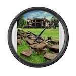 Angkor Wat Ruined Causeway Large Wall Clock