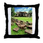 Angkor Wat Ruined Causeway Throw Pillow