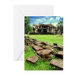 Angkor Wat Ruined Causeway Greeting Cards (Pk of 2