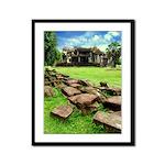 Angkor Wat Ruined Causeway Framed Panel Print