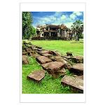 Angkor Wat Ruined Causeway Large Poster