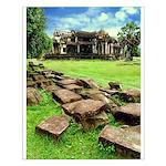 Angkor Wat Ruined Causeway Small Poster