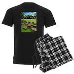Angkor Wat Ruined Causeway Men's Dark Pajamas