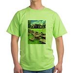 Angkor Wat Ruined Causeway Green T-Shirt