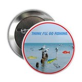 "SEAGULLS LOVE FISH 2.25"" Button"