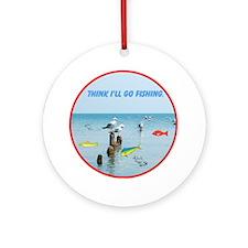SEAGULLS LOVE FISH Ornament (Round)