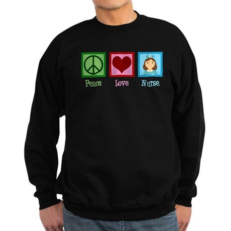 Peace Love Nurse Sweatshirt (dark)