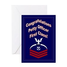 Congratulations Petty Officer Greeting Card