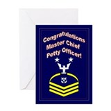 Congrats Master Chief Petty O Greeting Card
