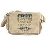 Stupid Criminals Messenger Bag