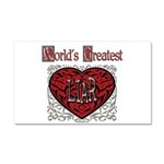 World's Best Liar Car Magnet 20 x 12