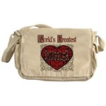 World's Best Snuggler Messenger Bag