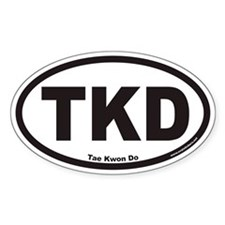 Tae Kwon Do TKD Euro Oval Bumper Stickers