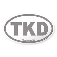 Tae Kwon Do TKD Euro Oval Decal