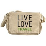 Live Love Travel Messenger Bag