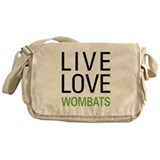 Live Love Wombats Messenger Bag