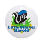 Little Stinker Harold Ornament (Round)