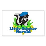Little Stinker Harold Sticker (Rectangle 10 pk)