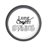 Lung Cancer Stinks Wall Clock