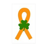 Orange Shamrock Ribbon Decal