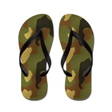 Green Jungle Camo Sandal Shoes Flip Flops