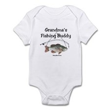 FISHING WITH GRANDMA Infant Bodysuit
