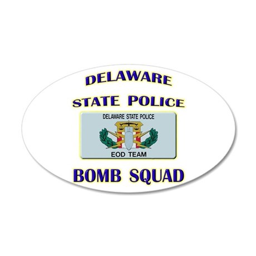Delaware State Police EOD Tea 22x14 Oval Wall Peel