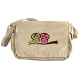 Lovely Owl Couple Messenger Bag
